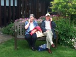 David and Elizabeth at Shaftesbury nunnery