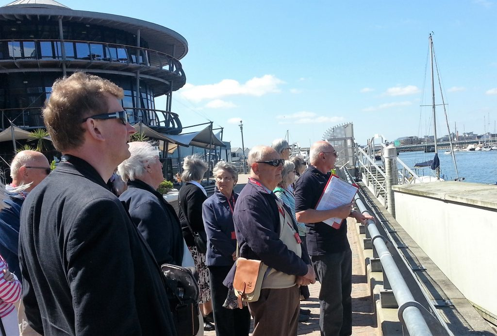 RNLI Poole visitor briefing near bridge - 16.05.2016